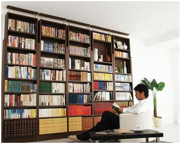 楽天:究極のこだわり本棚 突っ張り式
